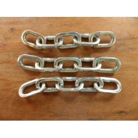 KIT 3 CHAINES TETE DEBROUSSAILLEUSE BROGIO 5 MAILLONS CARRE 5mm
