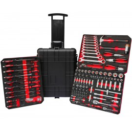 VALISE A OUTILS CAISSE CHARIOT ROUGE