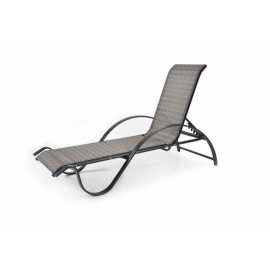 TRANSAT CHAISE LONGUE DE JARDIN INCLINABLE